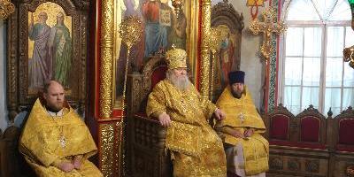 В Неделю о блудном сыне, епископ Великолукский и Невельский Сергий совершил Божественную…