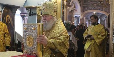 Епископ Великолукский и Невельский Сергий совершил Божественную литургию в храме…