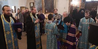 В канун Благовещения Пресвятой Богородицы епископ Великолукский и Невельский совершил…