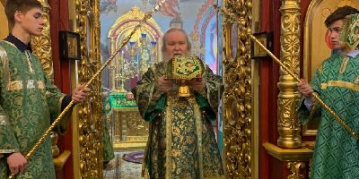 В праздник Входа Господня в Иерусалим епископ Великолукский и Невельский Сергий совершил…